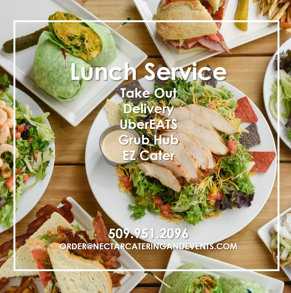 Lunch for pick up, delivery in downtown Spokane