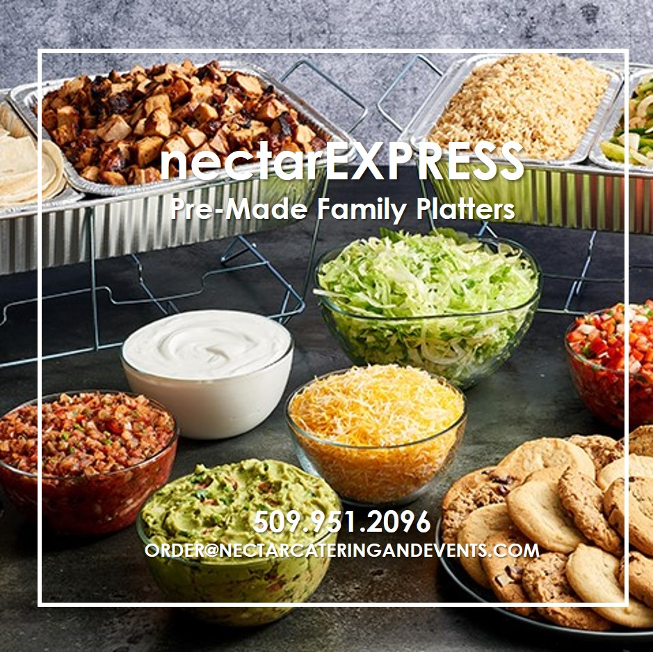 nectarEXPRESS offers pre-made family dinner platters for pick up or delivery
