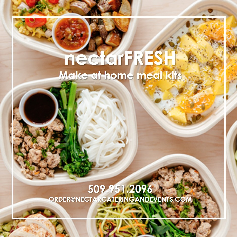 nectarFRESH offers at home meal prep kits for Spokane pick up or delivery